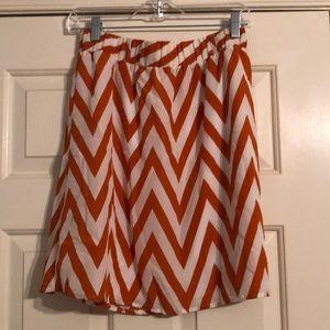 Orange & white Game day skirt!